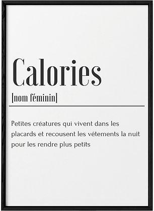 Affiche Calories...
