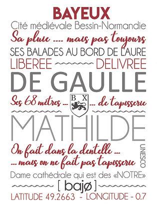 """Affiche """"J'écris Bayeux"""""""