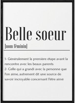 Affiche Belle soeur...