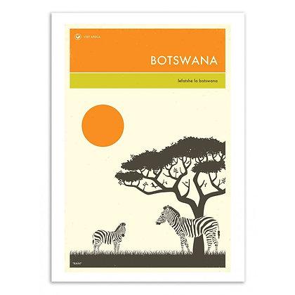 Affiche Botswana Wall Editions