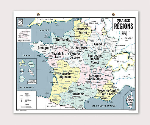 Carte France des régions Emile en ville