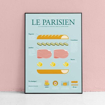 """Affiche """"Le Parisien"""" La Majorette à moustache"""