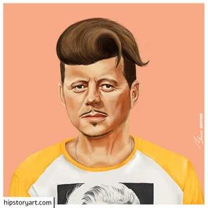 Affiche  J.F.Kennedy Hipstory Art