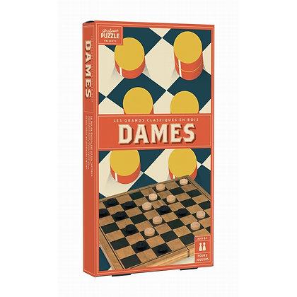 Jeux de dames en bois vintage