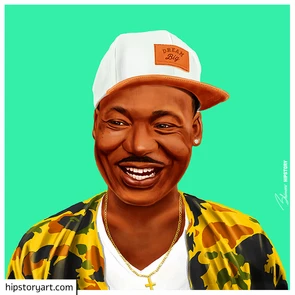 Affiche Martin Luther King Hipstory Art