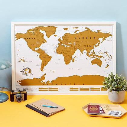 Carte à gratter planisphère Monde Luckies