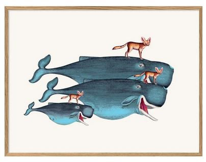 """Affiche """"Whales and desert foxes"""" The Dybdahl Co"""