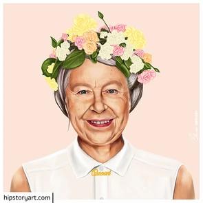 Affiche The Queen Hipstory Art