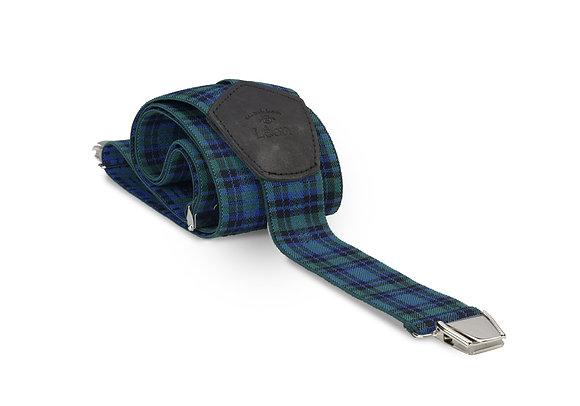 Bretelles larges écossais Les bretelles de Léon