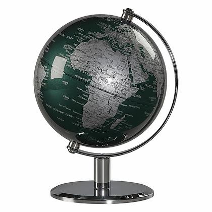 Globe haut de gamme vert et chrome