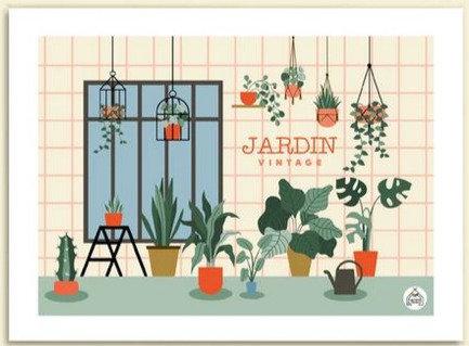 Les petits Yéyés affiche Le jardin vintage