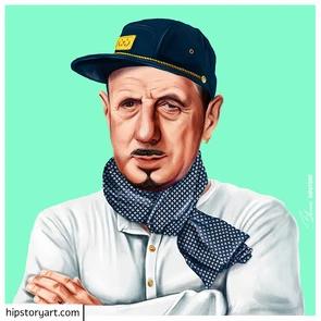 Affiche De Gaulle Hipstory Art