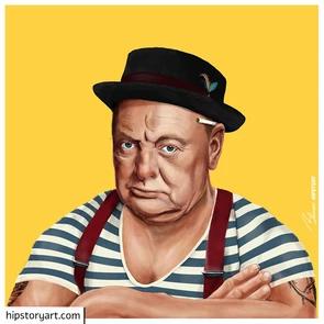 Affiche Churchill Hipstory Art