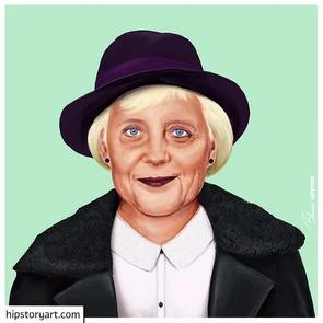 Affiche Angela Merkel Art