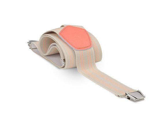 Bretelles larges beige-orange Les bretelles de Léon