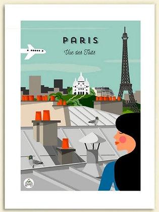 Les petits Yéyés affiche Paris Vue des toits