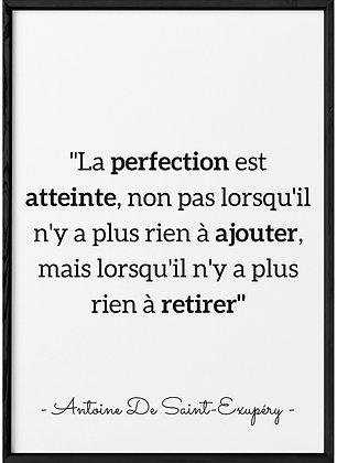 Affiche Citation A De St Exupéry...