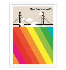Affiche San Francisco Wall Editions