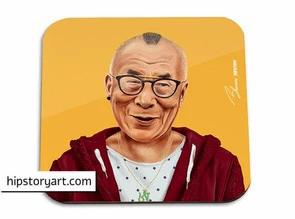 Sous-verre Dalai Lama Hipstory Art