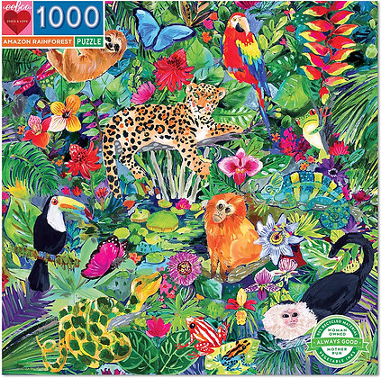Puzzle 1000  Amazon rain forest Eeboo