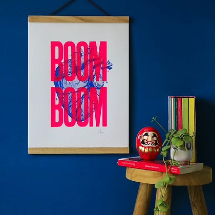 Affiche Boom Boom rose Pappus Editions