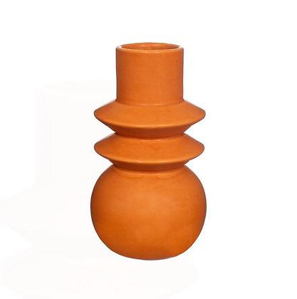 Vase géométrique terracota