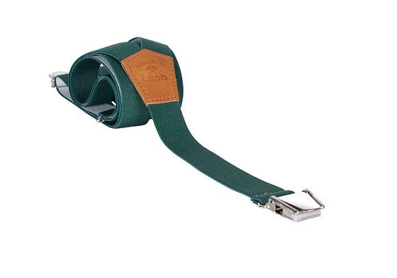 Bretelles fines Vert Les bretelles de Léon