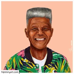 Affiche Nelson Mandela Hipstory Art