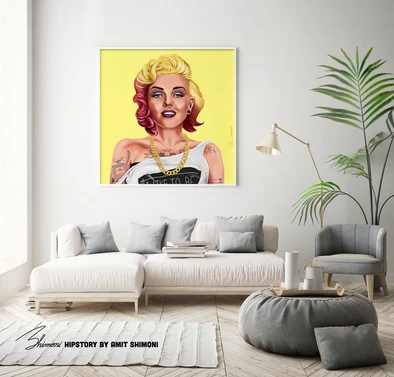 Affiche Marylin Monroe Hipstory Art