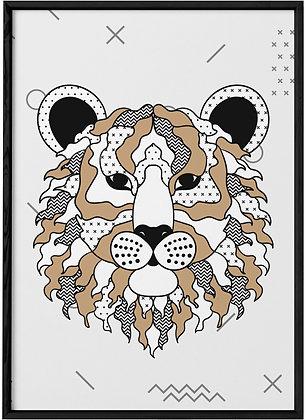 Affiche Tigre Scandinave.