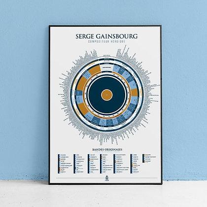 """Affiche """"Gainsbourg"""" La Majorette à moustache"""