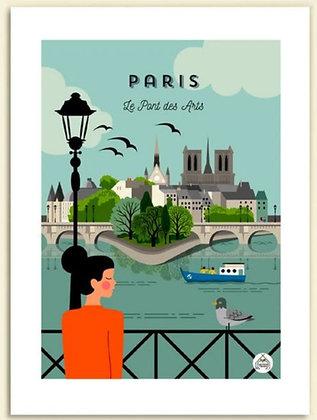 Les petits Yéyés affiche Paris Le pont des Arts