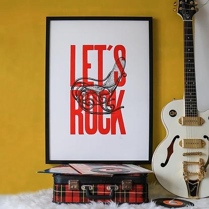 Affiche Let's Rock Pappus Editions