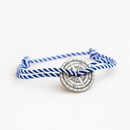 Bracelet cordon marinière boussole  bronze vieilli LVLFF