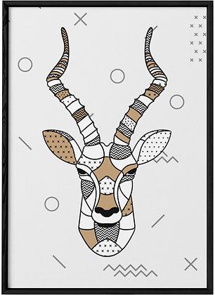 Affiche Antilope Scandinave.