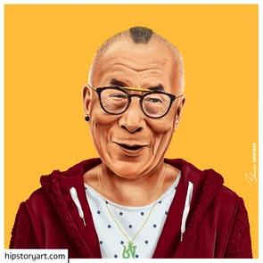 Affiche Dalai Lama Hipstory Art