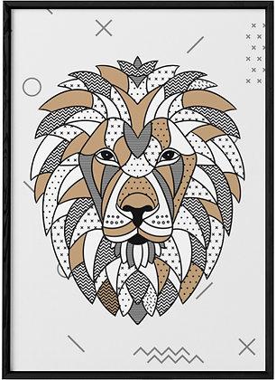 Affiche Lion Scandinave.