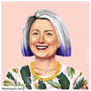 Affiche  Hilary Clinton Hipstory Art