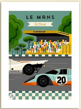 Les petits Yéyés affiche Le Mans le circuit
