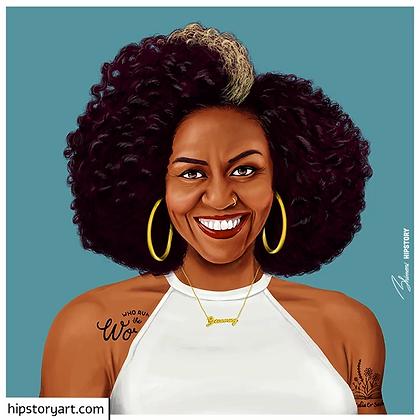 Affiche Michèle Obama Hipstory Art