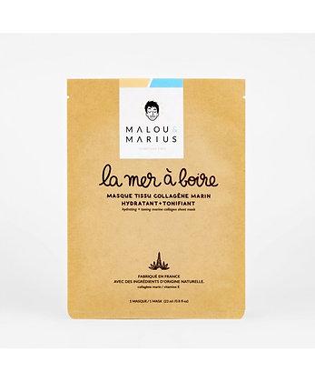 """Masque homme """"la mer à boire"""" Malou et Mariu"""