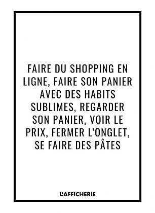 Affiche Shopping...