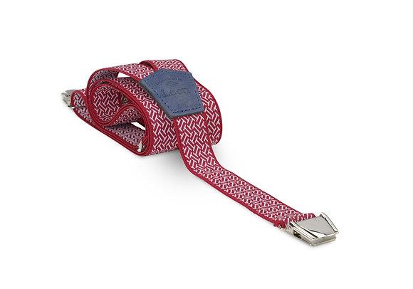 Bretelles fines Rouge goémétrique Les bretelles de Léon