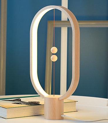Lampe Ellipse en bois doux