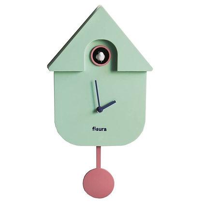 Horloge coucou vert d'eau Fisura