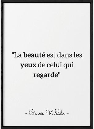 Affiche Citation O.Wilde...