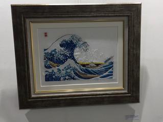 It is the exhibition hall scenery in London Artraits Gallery. ロンドンでの展示会風景です。