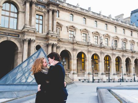 Séance couple au Louvre