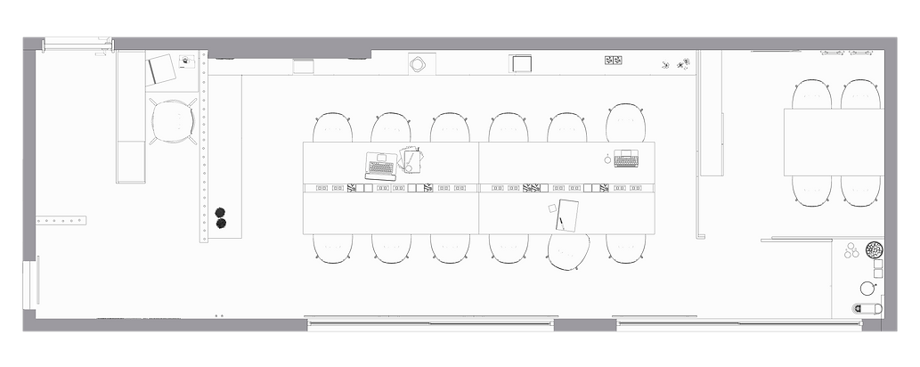 JOPEN Coworking - Planta baixa | coraarq