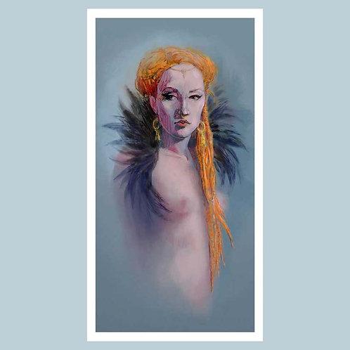 Giclée print - Naomi with feathers